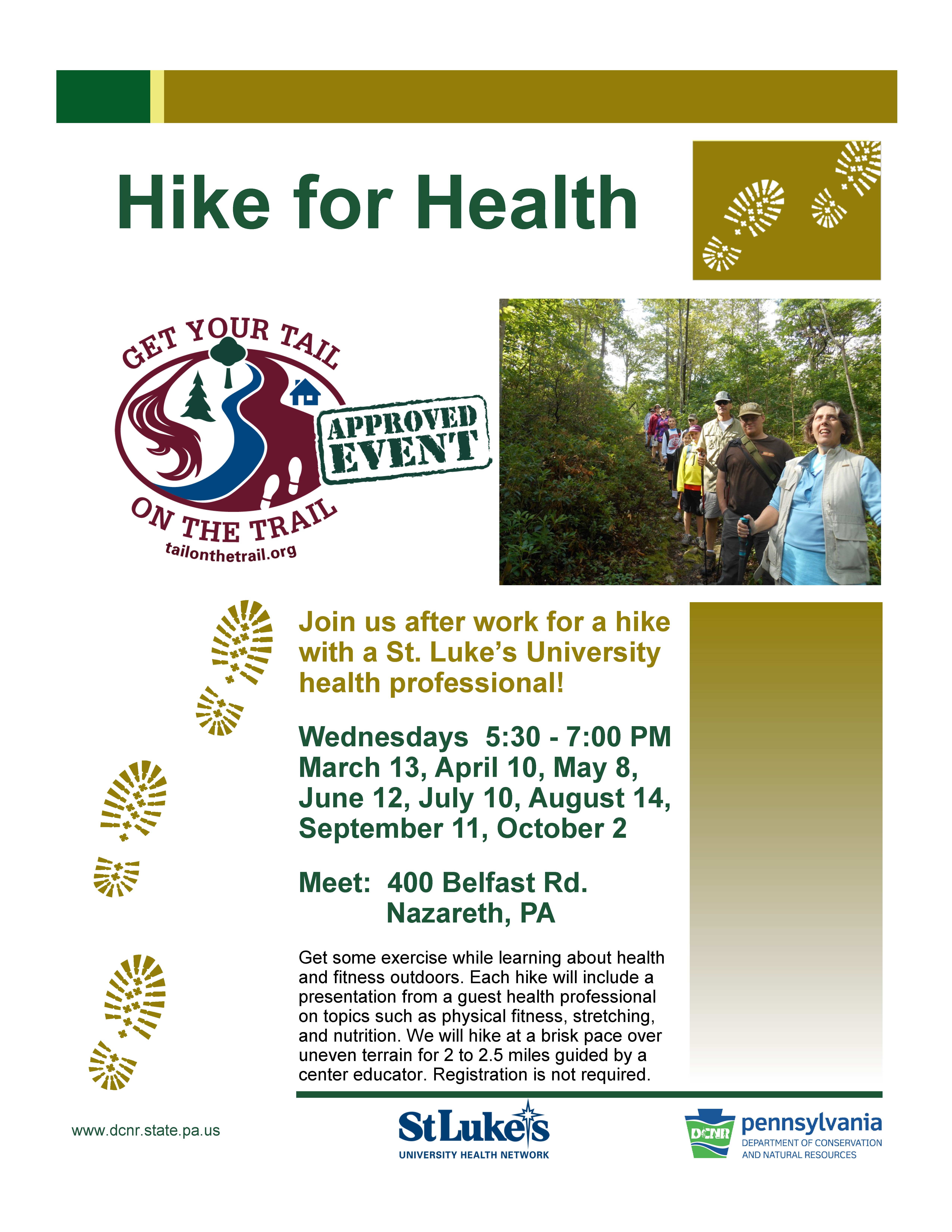 Hike for Health – Get Your Tail on the Trail